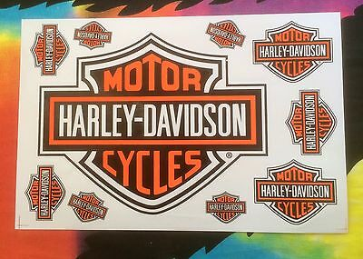 Harley Davidson Sticker Sheet