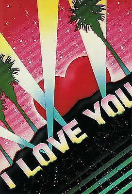 1983 Paper Moon Graphics  'hollywood Love' Hollywood Sign Style Lettering