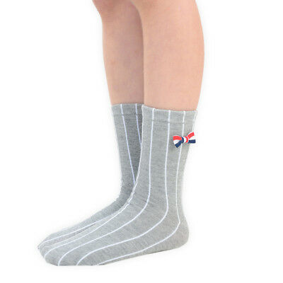 Boys Ankle Socks Vertical Stripes with Bowtie 1 3 or 6 Pairs Sizes from 6 to 3.5
