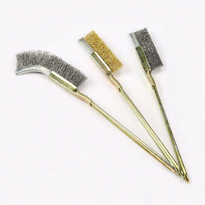 Mini Wire Brush Stainless Steel Copper Cleaning Remove Rust Brushes Removable