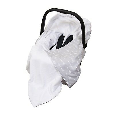 New Baby Wrap For Car Seat / Baby Car Seat Blanket - white / grey & white arrows