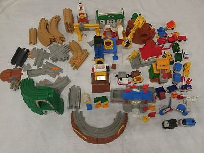 Fisher Price Geotrax large set 2 engines and controllers