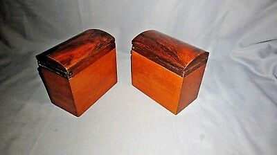 A PAIR OF LARGE 19th CENTURY VICTORIAN TEA CANISTERS