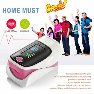 Heart rate Finger Pulse Oximeter With OLED Display Blood Oxygen Monitor new UK