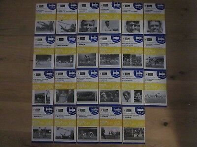 STOCKPORT COUNTY - Complete Season of Home Programmes 1969-70 - Division 3