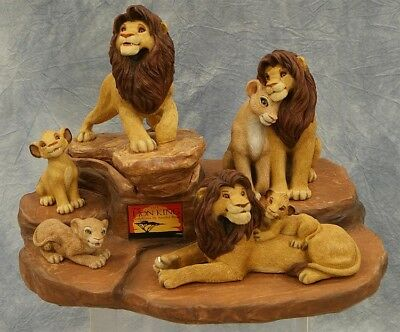 RARE Disney THE LION KING Sculptures on PRIDE ROCK by Sandra Brue