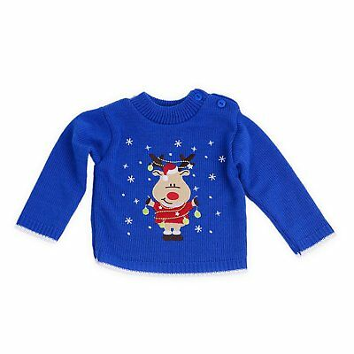 Babys Christmas Jumpers Sweaters Christmas Lights Reindeer Sizes for Newborns