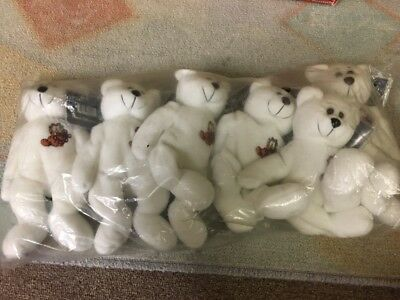 GARFIELD Beanie Bears. New in Bag, Lot of 6. RARE. Great Gifts