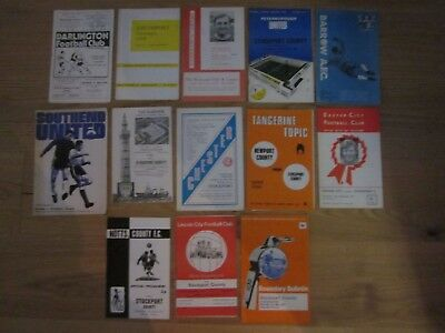 STOCKPORT COUNTY - 13 Away Programmes - Season 1970-71 - Division 4 (All listed)