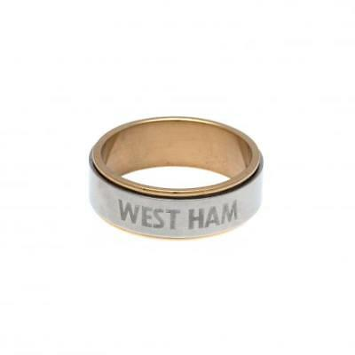 Official Football West Ham United F.C. Bi Colour Spinner Ring Small Xmas Gift