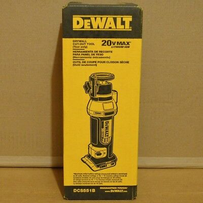 Brand New DeWalt DCS551B 20V Max Cordless Li-ion Rotary Drywall Cut-Out Tool