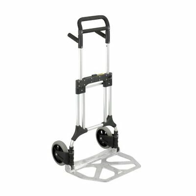 Safco Products 4055NC Stow-Away Heavy Duty Utility Hand Truck, Silver/Black