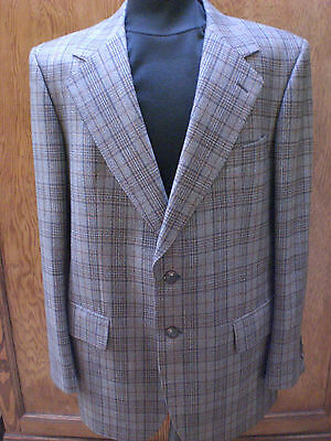 """Fantastic vintage deadstock scotch twist worsted  wool suit ch 42"""" waist  40'NWT"""