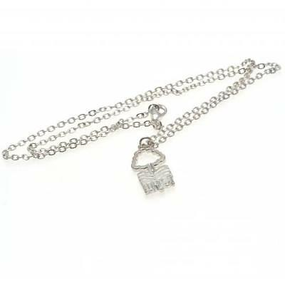 Official Football Nottingham Forest F.C. Silver Plated Pendant & Chain Xmas Gift