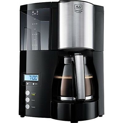 Melitta 1008-01 Optima Timer Coffee Filter Machine - Black and stainless steel