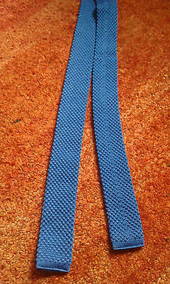 Vintage childs ? knitted vintage blue tie