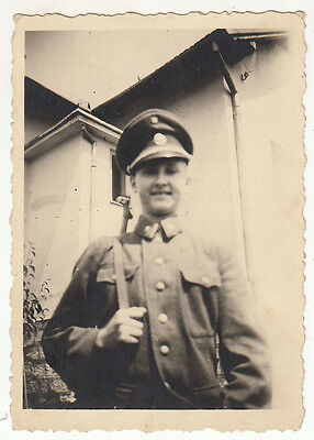 Wwii Indenpendent State Of Croatia - Officer With Rifle - Original Photo
