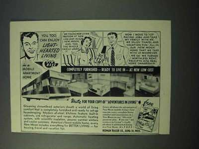 1953 Redman Trailer New Moon Mobile Home Ad