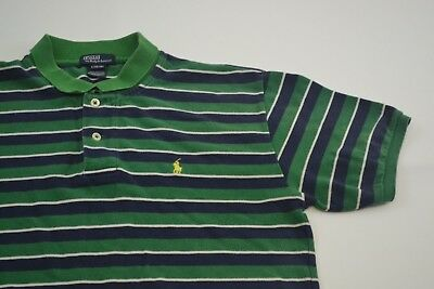 Kids Vintage Striped Ralph Lauren Polo Shirt Size L(16/18) Age 12+ #CP14071643