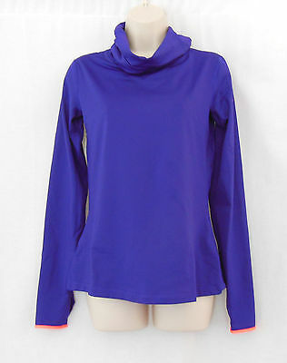 NIKE Purple Dri-Fit Pro Hyperwarm Infinity Cowl Neck Training Top-Size M-620415