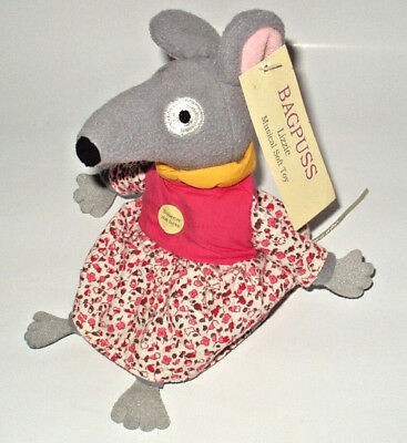 "Bagpuss 6"" Singing Lizzie Mouse Plush Soft Toy With Sounds & Card Tag Good Cond."