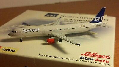 Schuco/Star Jets SAS Scandinavian Airlines Airbus A321 scale 1:500