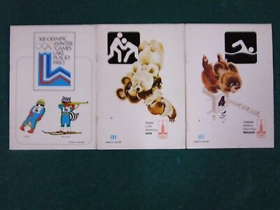 6x XII OLYMPIC WINTER GAMES LAKE PLACID 1980 SCHOOL NOTEBOOKS
