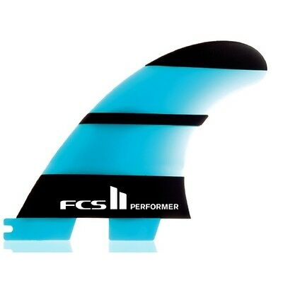 FCS II Performer Neo Glass Thruster Surfboard Fins Small FCS2 set of 3 fins