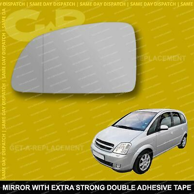 For Vauxhall Vectra C 03-08 Left passenger side Aspheric wing mirror glass