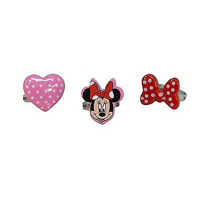 Disney 491493u Minnie Mouse Childrens Ring Set Bow Heart Face Pack of 3