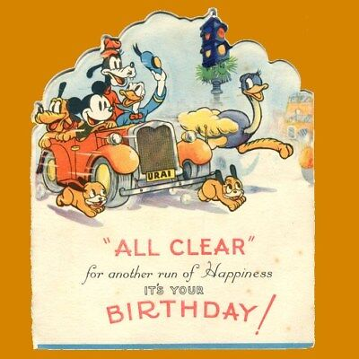 5 1938 DIsney Birthday Cards