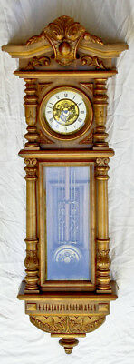 Gazo Carmel large carved wall clock @ 1976 Rare