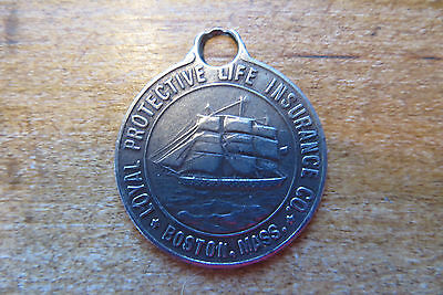 Old Loyal Protective Life Insurance charm, key chain, Boston, income, promotion