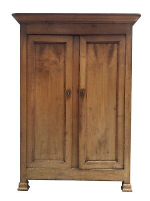 Impressive Antique French C18th Mahogany Armoire Wardrobe Hall Cupboard