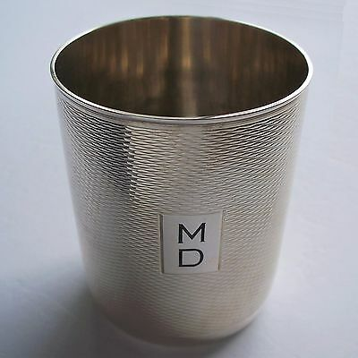 Vintage Puiforcat Silver Plated Cup/Tumbler / MD Initials / France