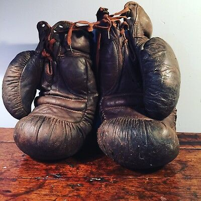 Antique Leather Boxing Gloves