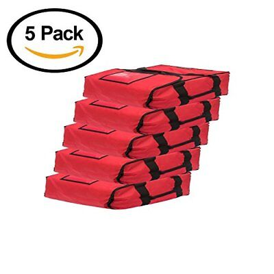 Red Polyester Insulated Pizza / Food Delivery Bag 16″ – 18″- Professional Pizza