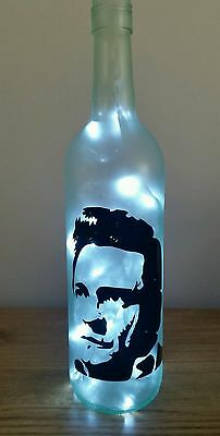 Johnny Cash bottle lamp