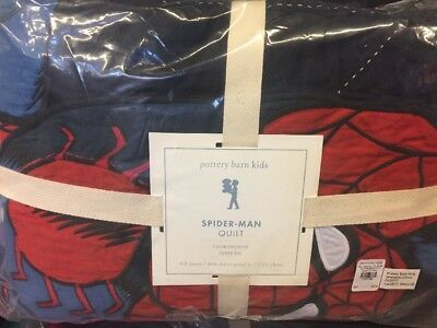 Pottery Barn Kids SPIDER-MAN Full/Queen Quilt Only