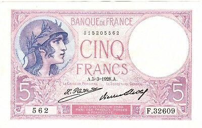 1928 French 5 Francs Bank Note***Collectors***(FR2)