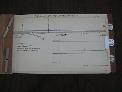 New York New Haven & Hartford Rr Nynh&hrr Track Chart New Haven To Springfield