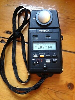 Minolta Flash Autometer Iii F Near Mint Condition With Strap And New Battery