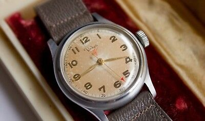 Parker vintage watch, super rare, all original with box and tags, steel case