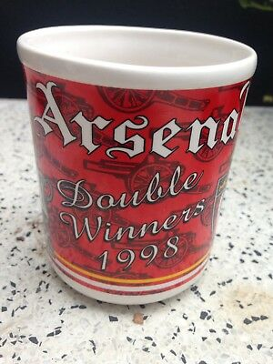 Vintage Arsenal Football Club Mug Highbury Era Double Winners 1998
