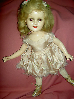 "Lovely composition 20"" sgnd & tgd. SONJA HENIE, Mme Alexander doll w/ ice skates"
