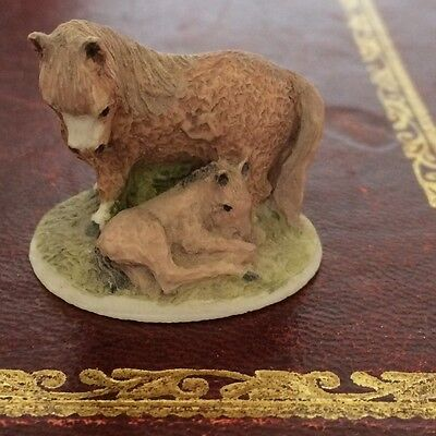 Colour Box Peter Fagan Horse And Foal Miniature Collection Brown