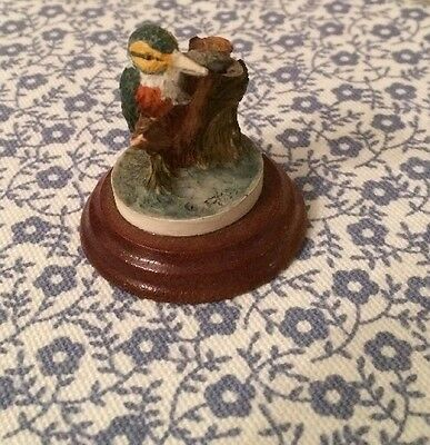 Colour Box Peter Fagan Miniature Collection Kingfisher On Plinth