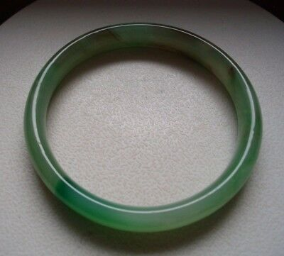 A Vintage Chinese Green Jade / Hardstone Bangle