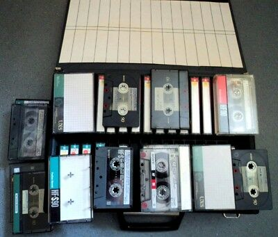 37 x  Sony Vintage Cassettes used Blanks Audio Tapes inc UXS HFS FXII HF + Case