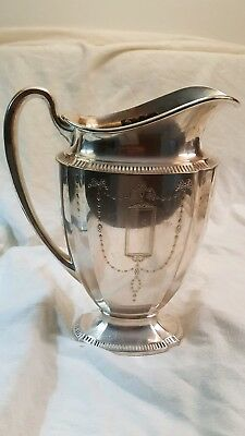 Vintage Antique Silver Pitcher, Community Plate 11962